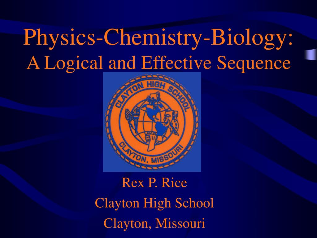 physics chemistry biology a logical and effective sequence l.