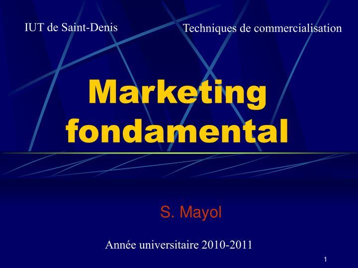 marketing fondamental n.