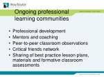ongoing professional learning communities