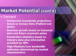 market potential cont d