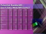 potential bandwidth gov t edu med np comc l