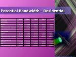 potential bandwidth residential
