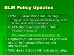 blm policy updates