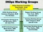 ihops working groups