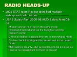 radio heads up