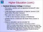 higher education cont