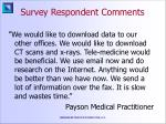 survey respondent comments29