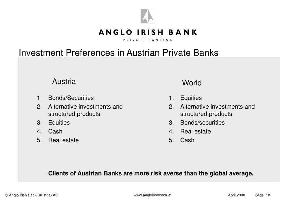 Investment Preferences in Austrian Private Banks
