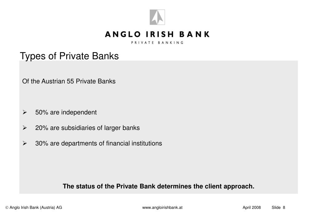 Types of Private Banks