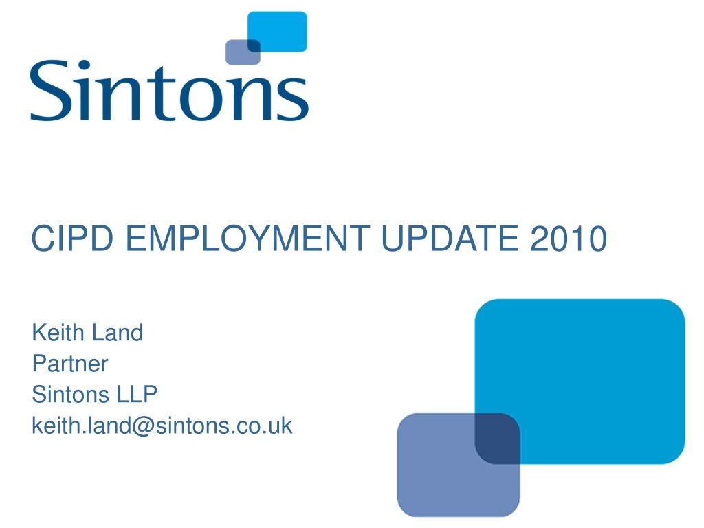 cipd employment update 2010 l.
