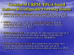 concept of urpm fpga based uniform reconfigurable processing module