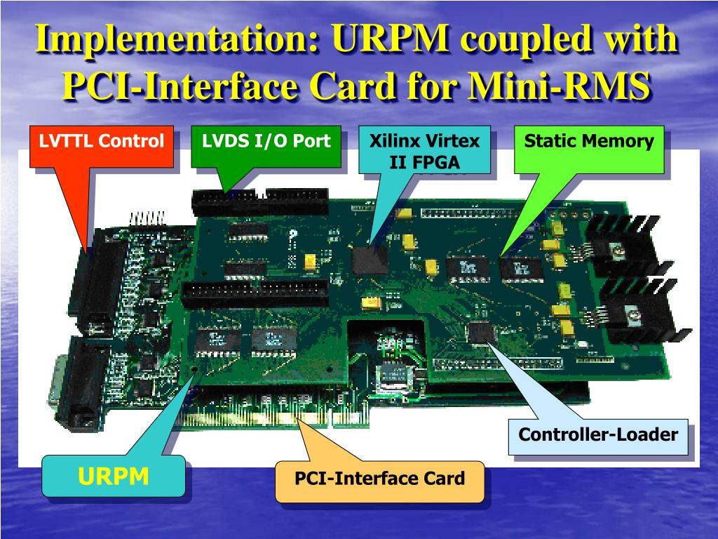 Implementation: URPM coupled with PCI-Interface Card for Mini-RMS