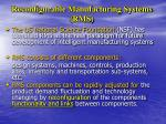 reconfigurable manufacturing systems rms