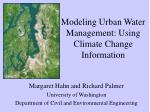 modeling urban water management using climate change information