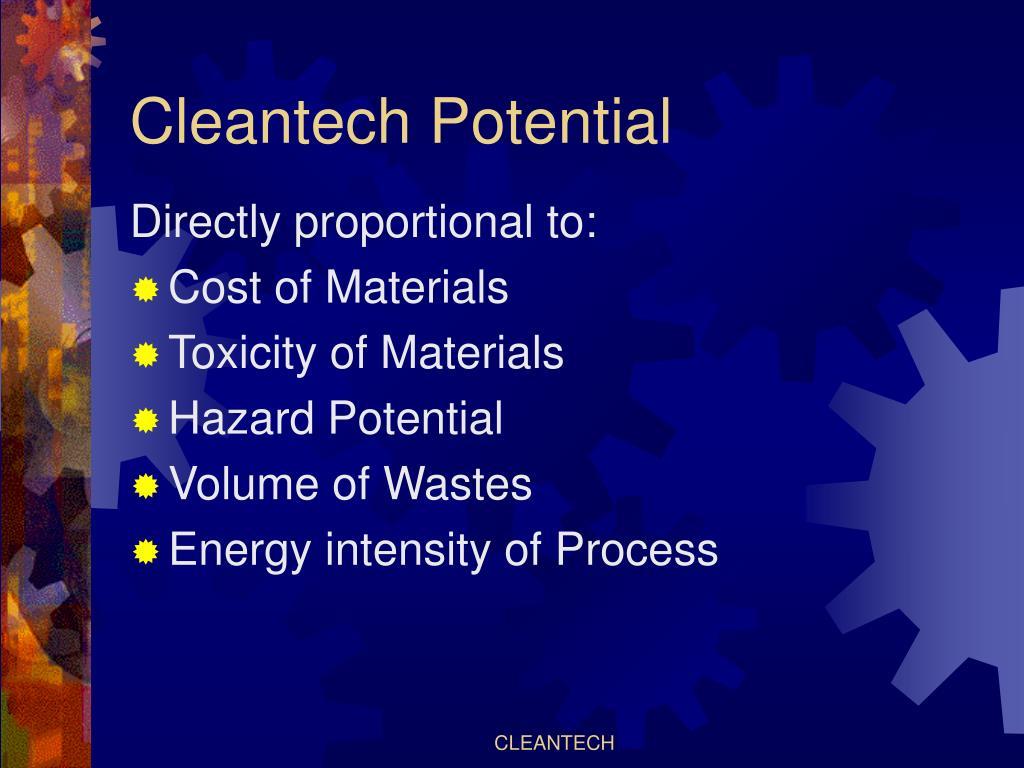 Cleantech Potential