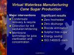 virtual waterless manufacturing cane sugar production