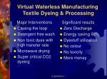 virtual waterless manufacturing textile dyeing processing