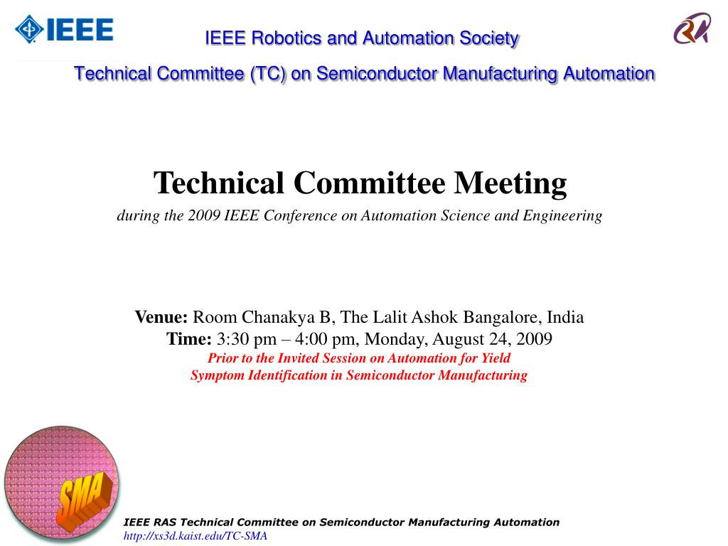 Ppt Ieee Robotics And Automation Society Technical Committee Tc