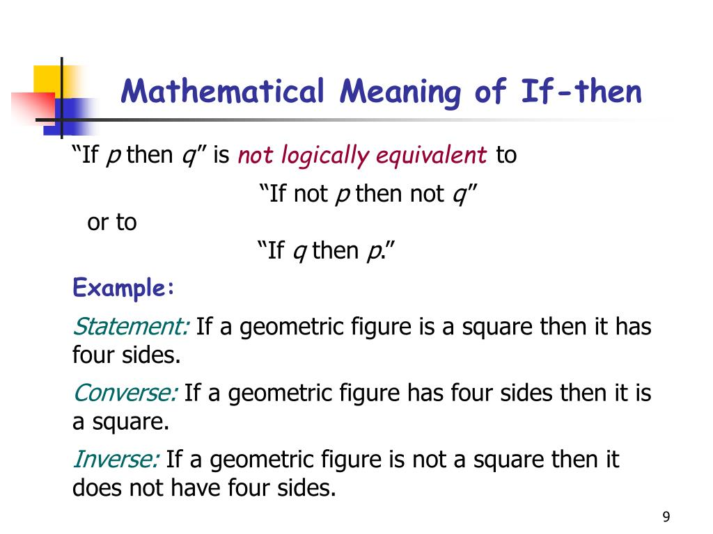 Mathematical Meaning of If-then