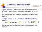universal instantiation