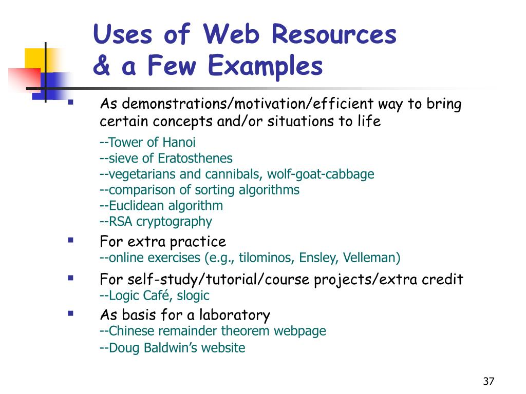 Uses of Web Resources