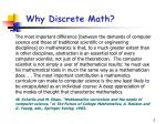 why discrete math