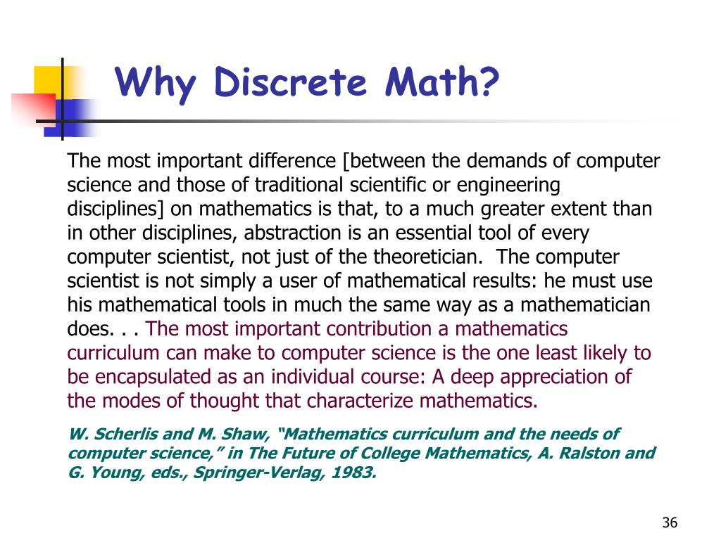 Why Discrete Math?