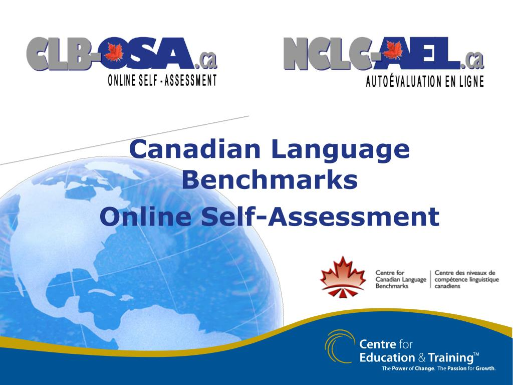 canadian language benchmarks online self assessment l.