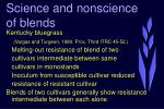 science and nonscience of blends21