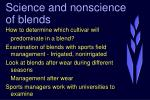 science and nonscience of blends34