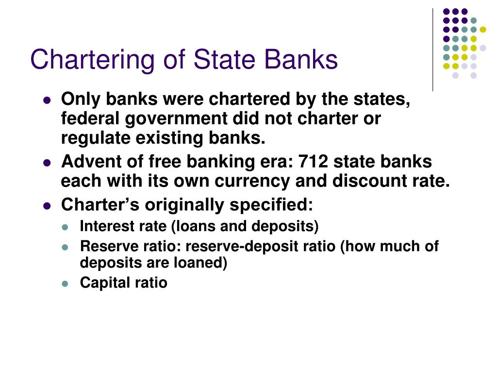 Chartering of State Banks