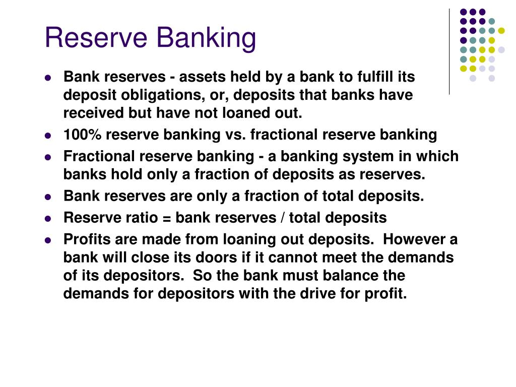 reserve banking l.