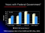 years with federal government
