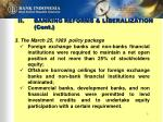 ii banking reforms liberalization cont