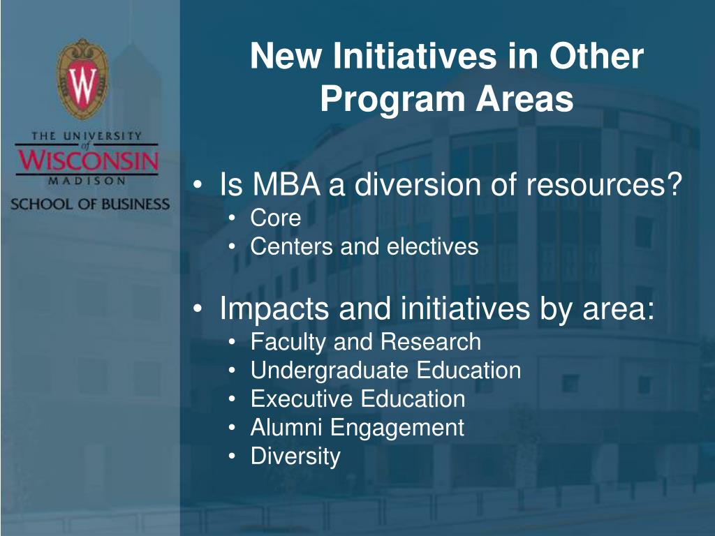 New Initiatives in Other Program Areas