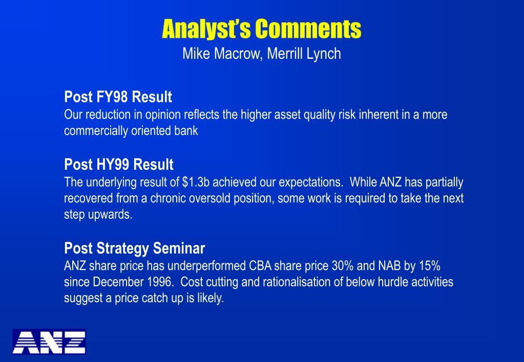Analyst's