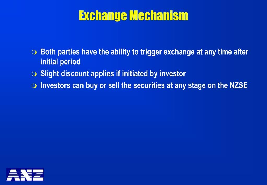 Exchange Mechanism