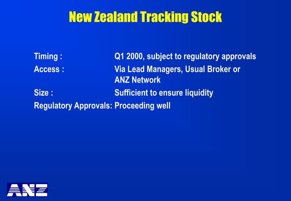 New Zealand Tracking Stock