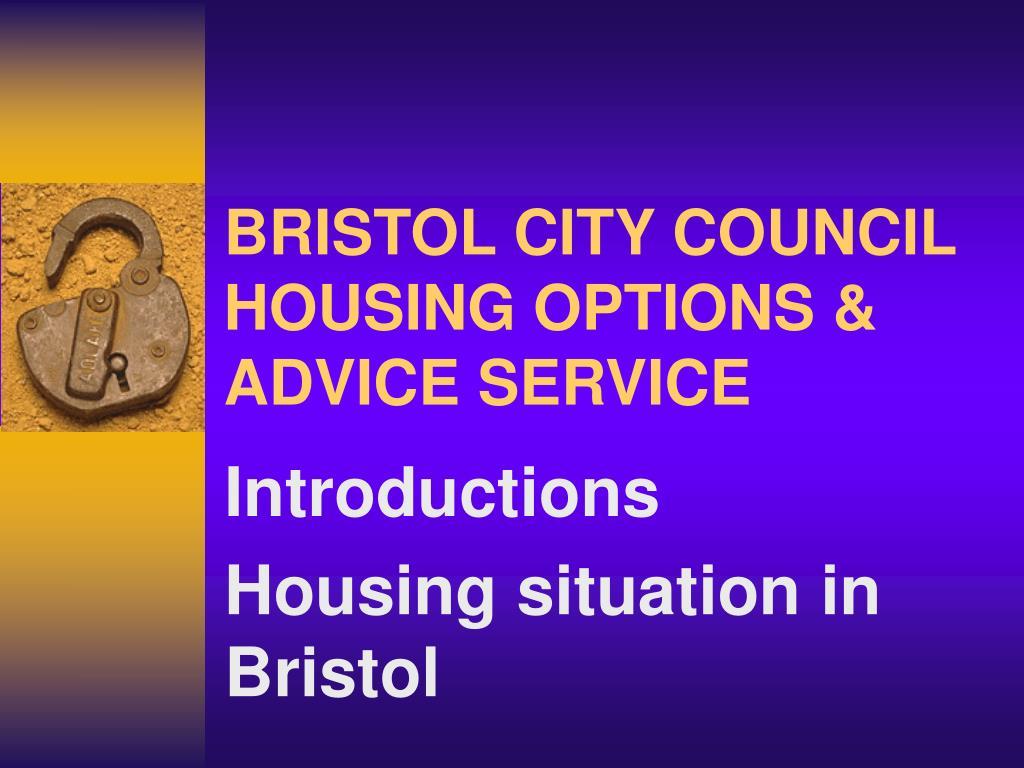 bristol city council housing options advice service l.