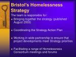 bristol s homelessness strategy