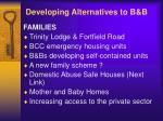 developing alternatives to b b