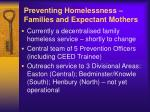 preventing homelessness families and expectant mothers