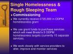 single homelessness rough sleeping team