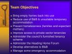 team objectives