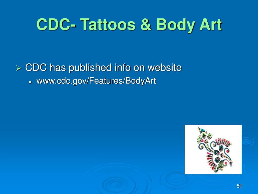 CDC- Tattoos & Body Art