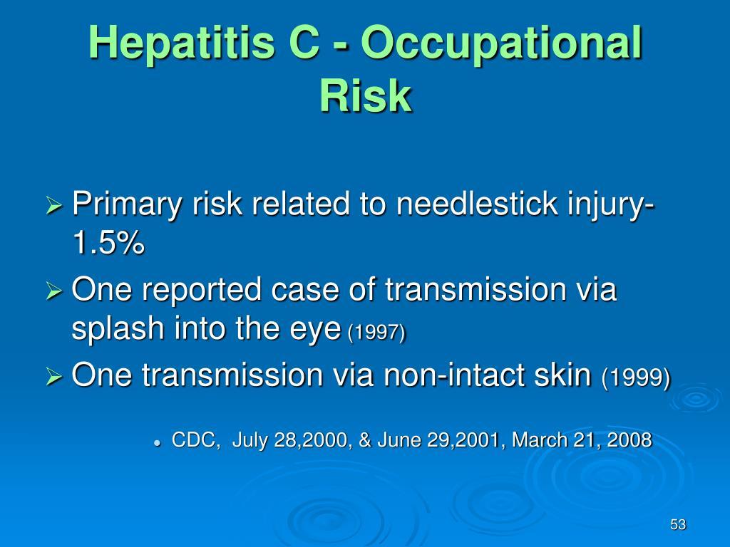 Hepatitis C - Occupational Risk