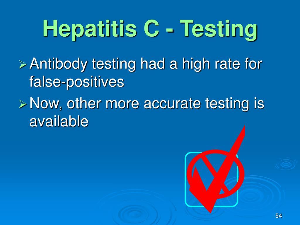 Hepatitis C - Testing