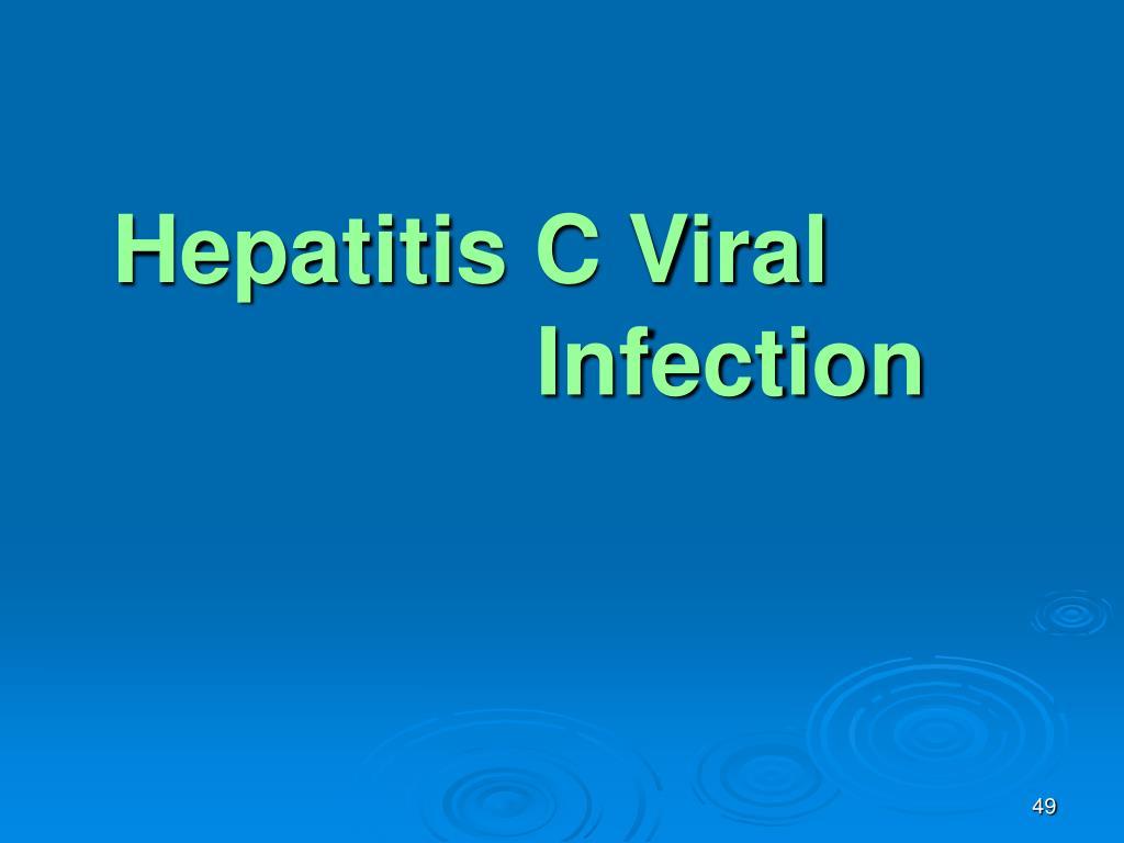 Hepatitis C Viral Infection