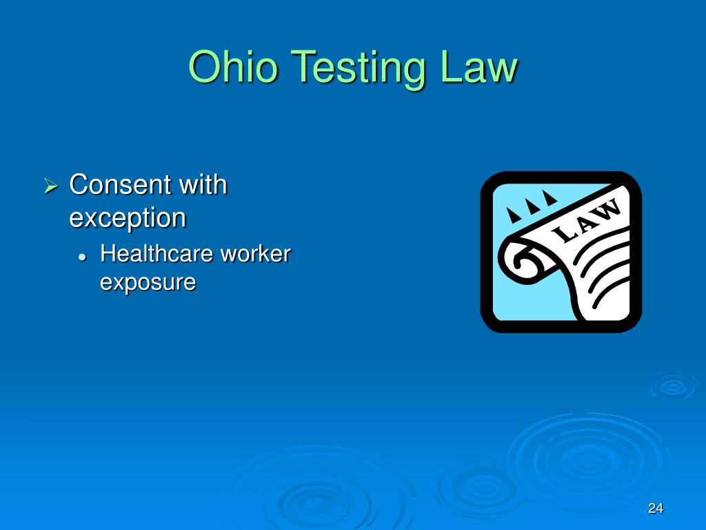 Ohio Testing Law