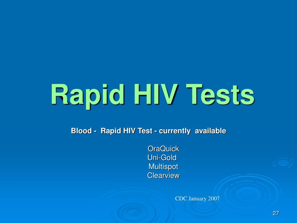 Rapid HIV Tests